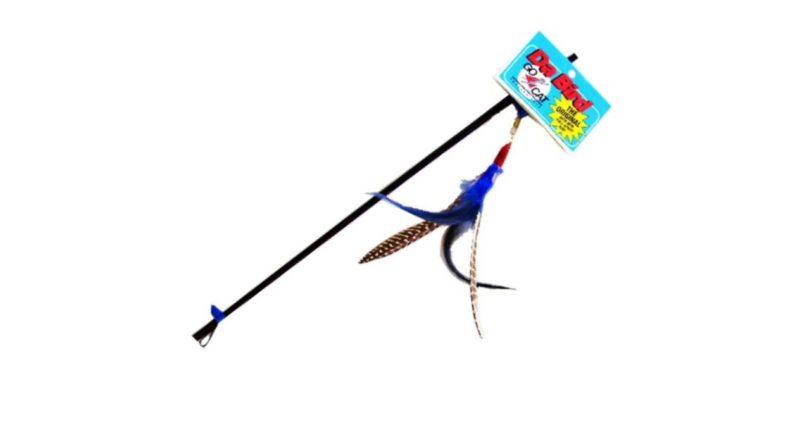 GoCat Da Bird Pull Apart Rod and Bird Cat Feather Toy