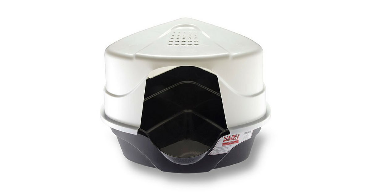 Nature S Miracle Advanced Corner Hooded Cat Litter Box